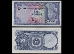 Malaysia 1 Ringgit Banknote ND 1972/76 Pick 7 VF+ (3+) (21543