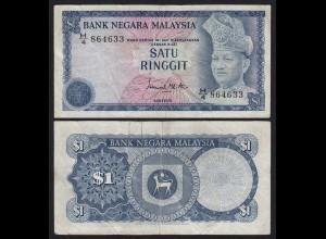 Malaysia 1 Ringgit Banknote ND 1976 Pick 13a F (4) (21545