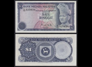 Malaysia 1 Ringgit Banknote ND 1976 Pick 13a UNC (1) (21548
