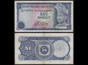 Malaysia 1 Ringgit Banknote ND 1981 Pick 13b VF (3) (21549