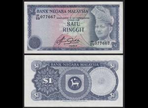 Malaysia 1 Ringgit Banknote ND 1981 Pick 13b aUNC (1-) (21550