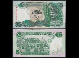 Malaysia 5 Ringgit Banknote ND (1991) Pick 28c VF+ (3+) (21555