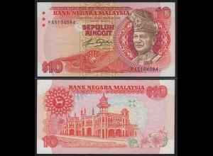 Malaysia 10 Ringgit Banknote ND (1983/84) Pick 21 aUNC (1-) (21558