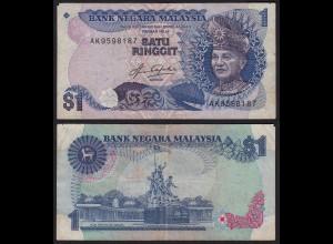 Malaysia 1 Ringgit Banknote ND (1981/83) Pick 19A F (4) (21560