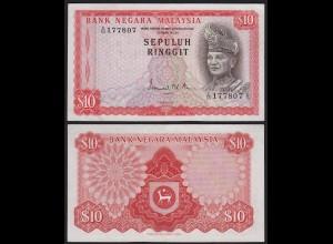 Malaysia 10 Ringgit Banknote ND (1972/76) Pick 9a VF/XF (2/3) (21571
