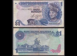 Malaysia 1 Ringgit Banknote ND (1981/83) Pick 19A F+ (4+) (21582