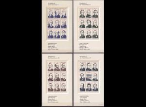 USA Block 17-20 ** 1986 Präsidenten der Vereinigten Staaten 4 Blocks (12893