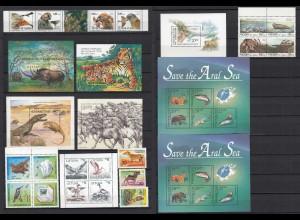 Vögel Birds Tiere Animals Fische Wildlife schönes Briefmarken LOT **