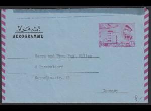 Persien Aerogramm 1970 nach Düsseldorf mit Inhalt (20627
