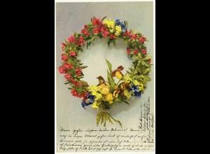 AK Ansichtskarte Blumen Kranz 1911 nach Empte bei Dülmen 2849