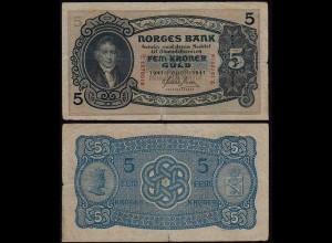 Norwegen - Norway 5 Kroner 1941 Pick 7c VG (5) (21604