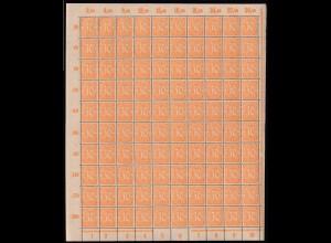 Deutsches Reich Dienstmarke 30 Pfg. Original-Bogen Mi.Nr. 27 postfrisch