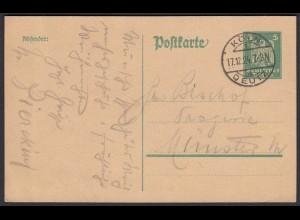Germany 1924 Postal Stationery DEUTSCHES REICH Colon-Deutz (21641