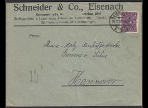 Werbung Reklame Schneider Eisenach 1922 Tabak Spiritosen Lebensmittel