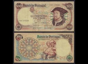 Portugal - 500 Escudos Banknote 1979 Pick 1770b F/VF (3/4) (21726