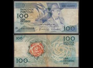 Portugal - 100 Escudos Banknote 24.11.1988 Pick 179f F (4) (21738