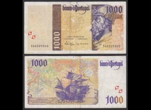 Portugal - 1000 Escudos Banknote 18.4.1996 Pick 188a F/VF (3/4) (21748