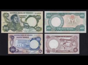 Nigeria 50 Kobo + 20 Naira Banknoten UNC (21799