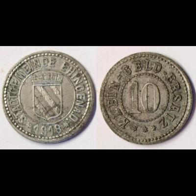Emmendingen 10 Pfennig 1918 Z Funck 117.2 Notgeld / Kleingeldersatz (r1023