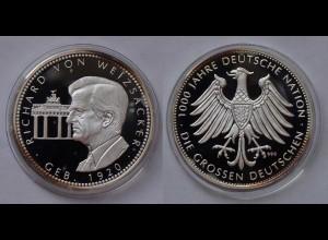 Richard von Weizsäcker Silber 999/1000 PP geb.1920 deutscher Politiker