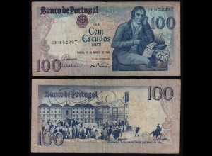 Portugal - 100 Escudos Banknote 1985 - Pick 178d VF (3) (21806