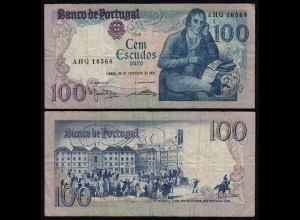 Portugal - 100 Escudos Banknote 1981 - Pick 178b F (4) (21808