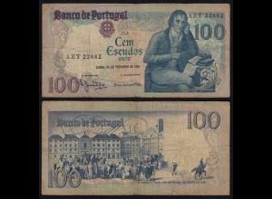 Portugal - 100 Escudos Banknote 1981 - Pick 178b F- (4-) (21809