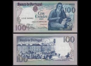Portugal - 100 Escudos Banknote 1981 - Pick 178b fast XF (2-) (21811