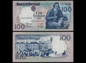 Portugal - 100 Escudos Banknote 1985 - Pick 178e fast VF (3-) (21814