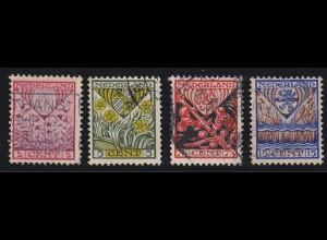 Niederlande Mi. 201-204 A 1927 Voor het Kind Serie gestempelt Mi.10 € (4723