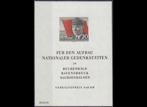DDR Block 14 ** Ernst Thälmann 1956 postfrisch MNH (4660