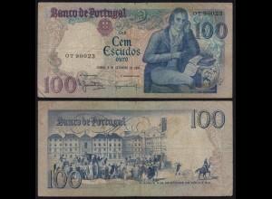 Portugal - 100 Escudos Banknote 1980 - Pick 178a F (4) (21818