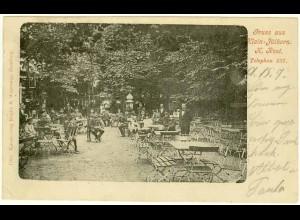 AK Wandsbeck Hamburg Klein-Jüthorn Garten-Restaurant gel. nach Ottensen (2058