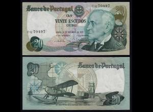 Portugal - 20 Escudos Banknote 1978 - Pick 176a aXF (2-) (21827