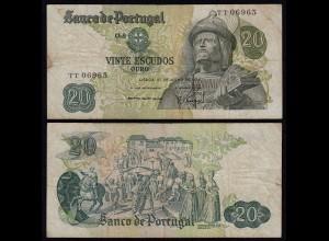 Portugal - 20 Escudos Banknote 1971 - Pick 173 F (4) (21828