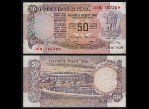 Indien - India - 50 RUPEES Banknote - Pick 84L VF (3) (21832