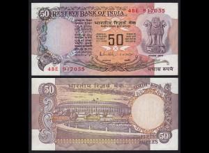 Indien - India - 50 RUPEES Banknote - Pick 84e Letter B UNC (1) (21835