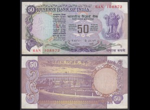 Indien - India - 50 RUPEES Banknote - Pick 83b VF (3) (21840
