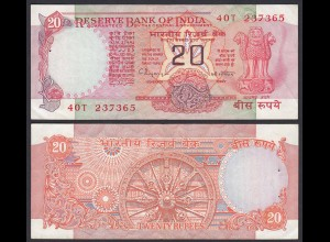 Indien - India - 20 RUPEES Banknote - Pick 82i XF (2) Letter B (21845