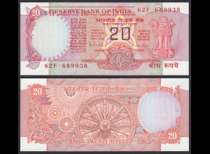 Indien - India - 20 RUPEES Banknote - Pick 82h aUNC (1-) Letter B (21851