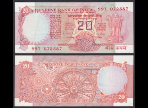 Indien - India - 20 RUPEES Banknote - Pick 82g VF (3) Letter A (21852