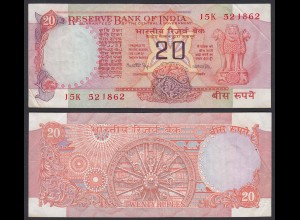 Indien - India - 20 RUPEES Banknote - Pick 82f VF (3) Letter A (21853