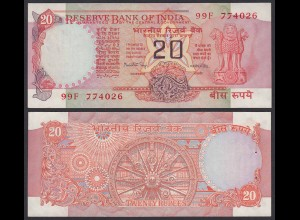 Indien - India - 20 RUPEES Banknote - Pick 82f aUNC (1-) Letter A (21854