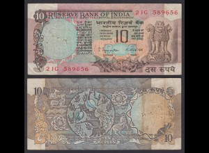 Indien - India - 10 RUPEES Banknote - Pick 81a F/VF (3/4) (21862