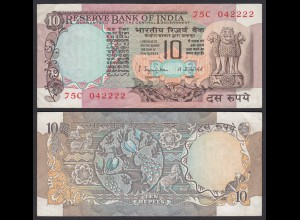 Indien - India - 10 RUPEES Banknote - Pick 81a VF+ (3+) (21863