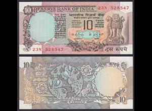 Indien - India - 10 RUPEES Banknote - Pick 81b aUNC (1-) (21865