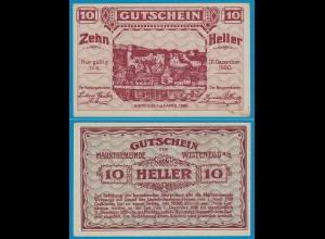 Österreich - Austria 10 Heller Weitenegg 1920 Notgeld/Gutschein (20940