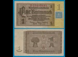 SBZ/DDR Huponausgabe 1 Mark auf 1 RM Banknote 1948 Ros.330b fast XF (2-)