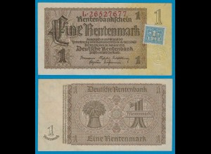 SBZ/DDR Huponausgabe 1 Mark auf 1 RM Banknote 1948 Ros.330b XF (2)