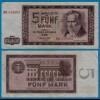 DDR Banknote 5 Mark 1964 Ros. 354a VF (3) (20969